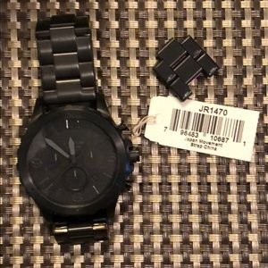 FOSSIL Nate Chronograph Black Dial Black Watch